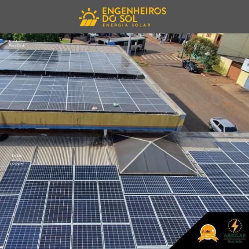 Projeto Energia Solar - Sistema fotovoltaico de 180 painéis - Sarandi - PR