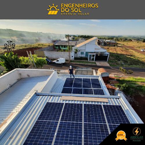 Projeto Energia Solar - Sistema fotovoltaico de 12 paineis - Maringá - PR