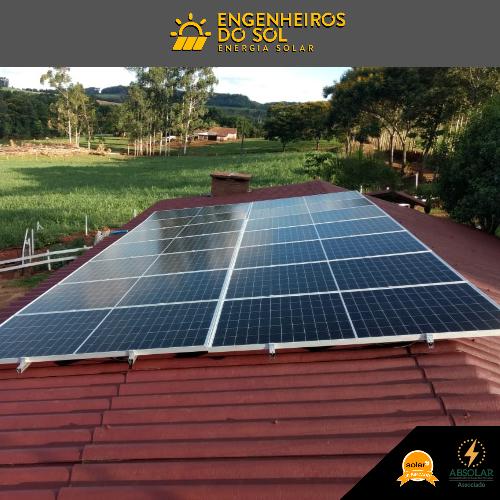 Projeto Energia Solar - Sistema Fotovoltaico de 14 painéis - Crissiumal - RS